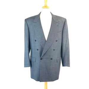 Canali Double Breasted Sport Suit Jacket Men's 54L